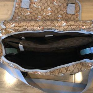 bf3efc5fba9 Gucci Bags - Gucci Zoo Birds Diaper Bag Blue